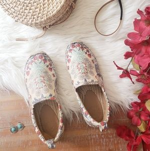Marc by Marc Jacob's Floral Washed Espadrilles 36